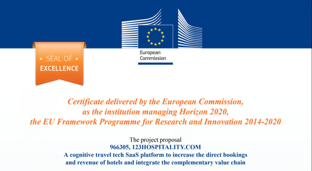 Seal of Excellence 123compare.me by EU commission 2020
