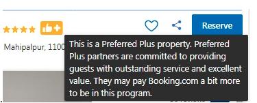 Preferred Plus booking.com icon